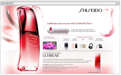 Website Design for Shiseido